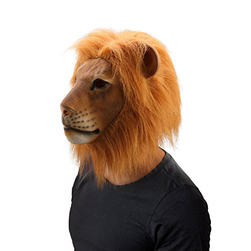 Realistic lion head mask